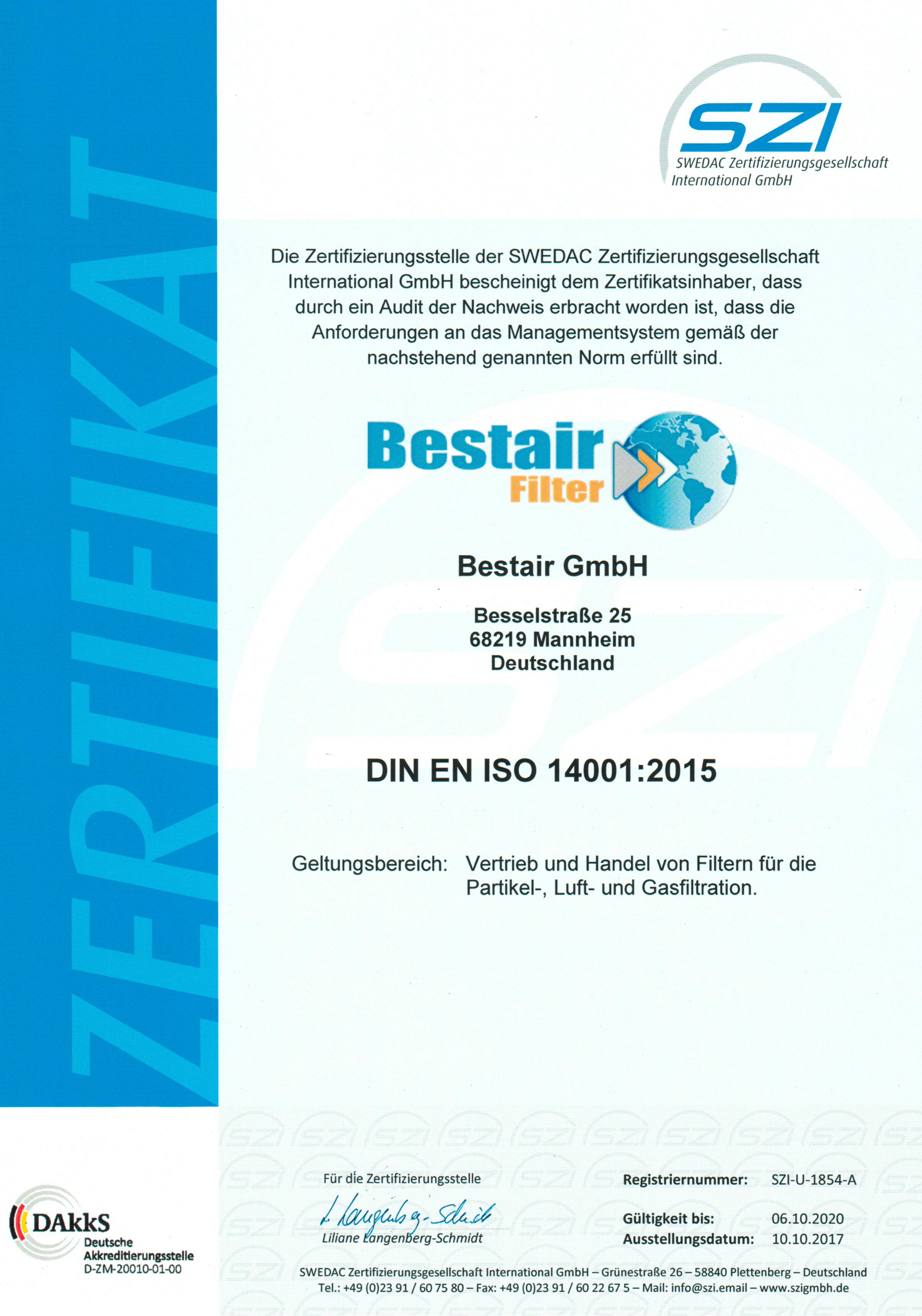 SZI-U-1854-A-Zertifikat-Bestair-GmbH-d